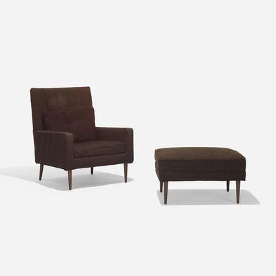 Paul McCobb, 'lounge chair, model 302 and ottoman', c. 1955