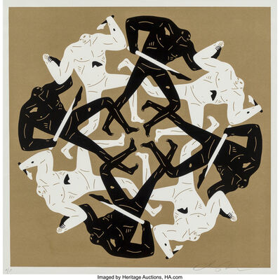 Cleon Peterson, 'Eclipse (White and Gold) (two works)', 2017