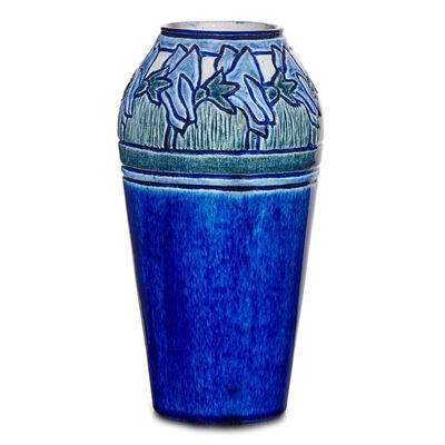 Leona Nicholson, 'Early vase with stylized flowers', 1904