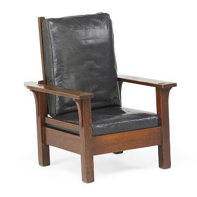 L. & J.G. Stickley, 'Flat-arm Morris chair', ca. 1907-12