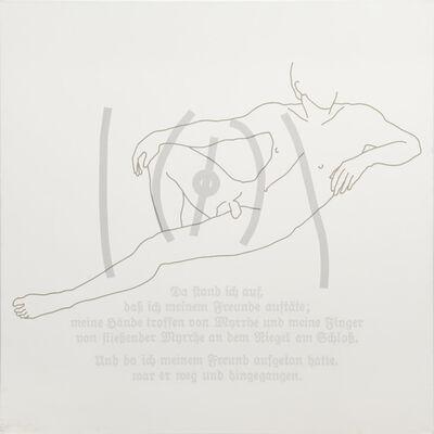 Rune Mields, 'Über die Sehnsucht der Frauen: Der Liegende', 1984