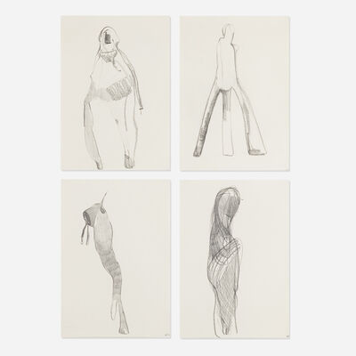 Nicola Tyson, 'Group #46 (four works)', 1998