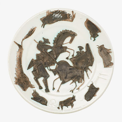 """Pablo Picasso, 'Rare large charger, """"Corrida,"""" France'"""