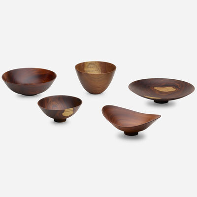 Bob Stocksdale, 'collection of five bowls', c. 1980