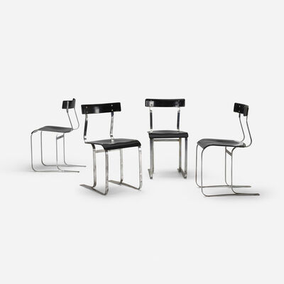 Marcel Breuer, 'chairs model WB301, set of four', c. 1933-1934