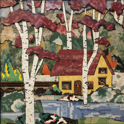 Bill Miller, 'Birch Trees by the Lake House', 2017