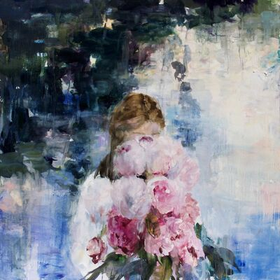 Darlene Cole, 'Love Notes (pond of peonies)', 2020