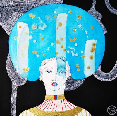 Demoiselle MM Mariane Mazel Aka, 'La tête dans les étoiles', 2019