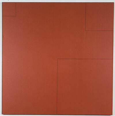 Robert Mangold (b.1937), 'Four Squares Within a Square #3', 1974