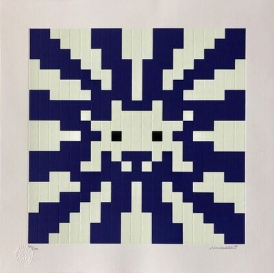 Invader, 'Sunset - Blue / White', 2018