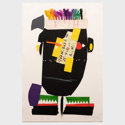 Ivan Chermayeff, 'African with Brian's Note', 1990