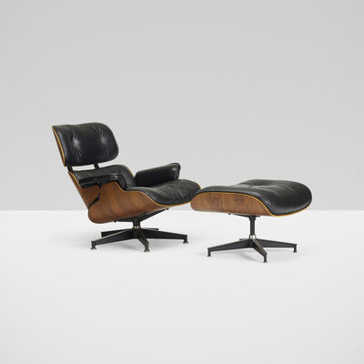 Charles and Ray Eames, 'lounge chair, model 670 and ottoman, model 671', 1956