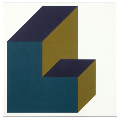 Sol LeWitt, 'Forms Derived from a Cube (Colors Superimposed), Plate #11', 1991