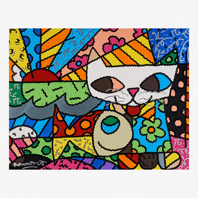 Romero Britto, 'Cat Dream', 2000