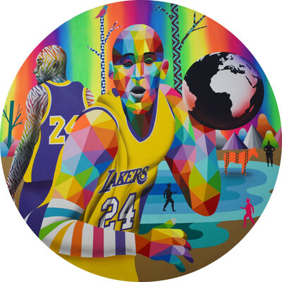 Okuda San Miguel, 'Kobe Moving the World's Ball', 2020