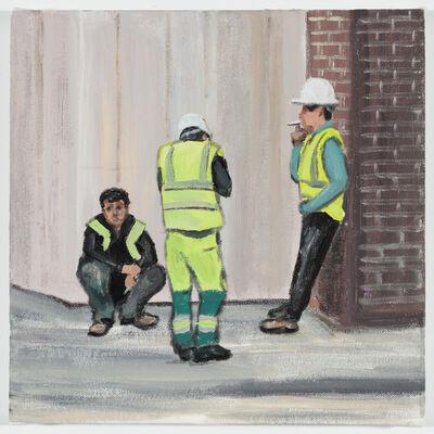 Ramiro Gomez, 'Three Men on a smoke break, Savile Row', 2018