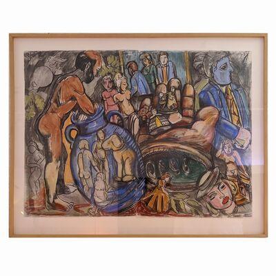 Viola Frey, 'Artist Studio Series (Diptych #7)', 1990-1991