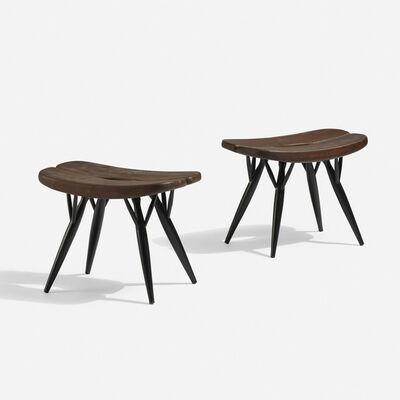 Laukaan Puu, 'Pirkka stools, pair', 1956
