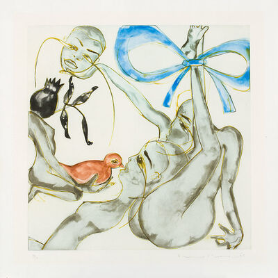 Francesco Clemente, 'Yellow, Red, or Blue', 1999