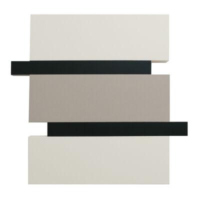 Scot Heywood, 'Stack - White, Canvas, Black', 2016