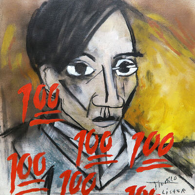 Anthony Lister, 'SELF PORTRAIT 1907 / Homage to Pablo Picasso', 2019