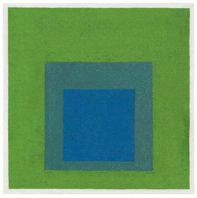 Josef Albers, 'Squares: Blue and Cobalt Green in Cadmium Green', 1958