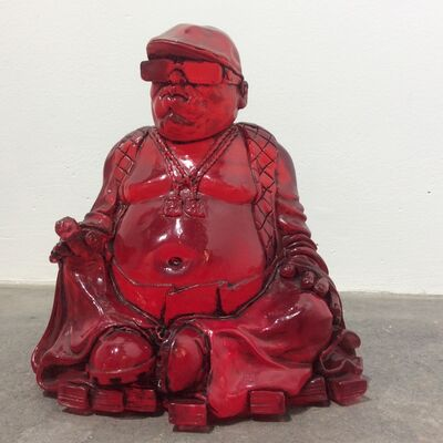 Ryan Callanan (RYCA), 'Biggie/Buddha Smalls (red translucent Buddha)', 2019