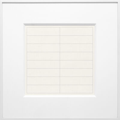 Agnes Martin, 'On a Clear Day #02', 1973