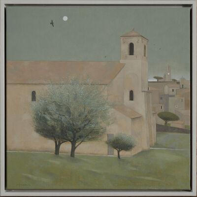 Tom Mabon, 'Church and Moon, Lourmarin. Provence', 2020