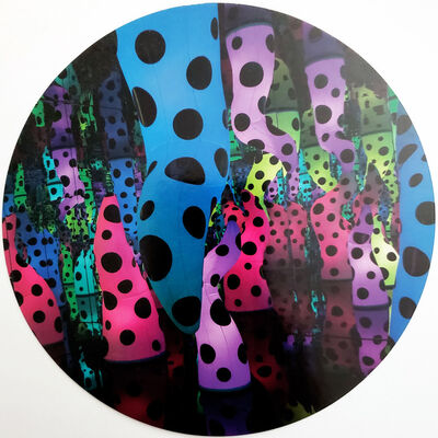 Yayoi Kusama, 'Kusama: At the End of the Universe - MFAH tondo printed invitation', 2016