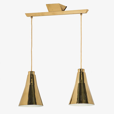 Paavo Tynell, 'Two-pendant fixture/chandelier, Finland'