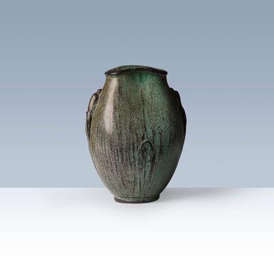 Svend Hammershøi, 'Oval-shaped earthenware vase with neck ', 1930-1940
