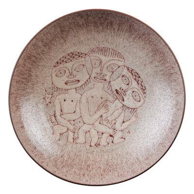 Edwin Scheier, 'Small plate with figures'