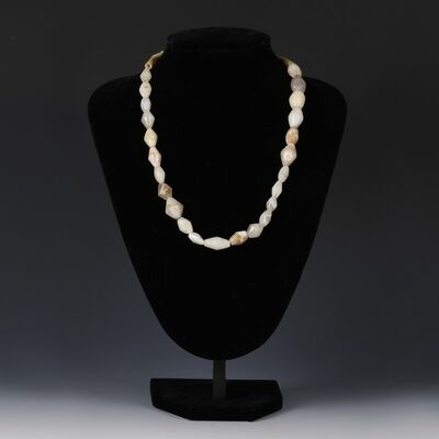 Ancient, 'Necklace With White Agate Beads', Circa 1st Millenium BC