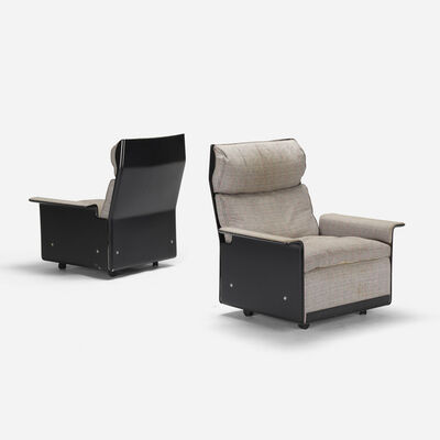 Vitsoe, '620 high back lounge chairs, pair', 1962