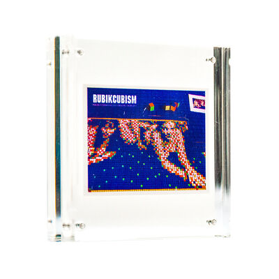 Invader, 'RUBIKCUBISM STICKER (Framed)', 2011