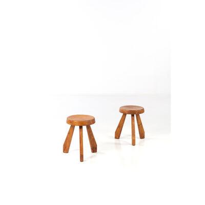 Charlotte Perriand, 'Sandoz - Pair of stools', near 1962