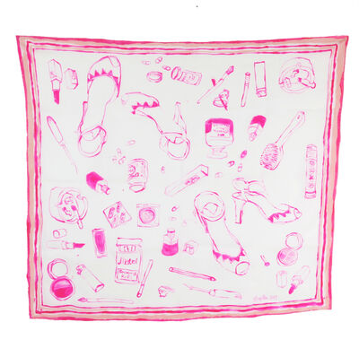 Rose Eken, 'Lady's Accessories - Unique handpainted silk scarf', 2019