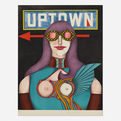 Richard Lindner, 'Uptown (from the Fun City portfolio)', 1971