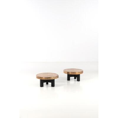 Ado Chale, 'Goutte d'eau - Pair of coffee tables', 2000s