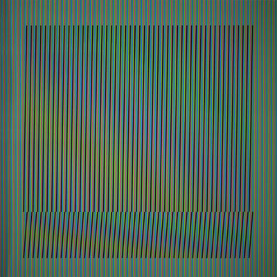 Carlos Cruz-Diez, 'Induction Chromatique a double frequence Orinoco 4', 2018