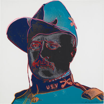 Andy Warhol, 'Teddy Roosevelt, from Cowboys and Indians', 1986