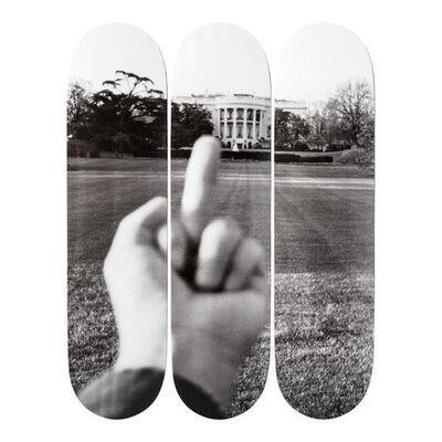 Ai Weiwei, 'The White House - 100 Days of Trump' Stake Decks (Set of 3) ', ca. 2017