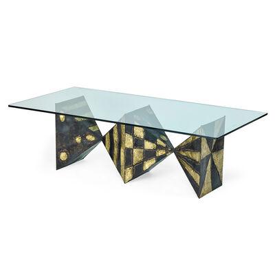 Paul Evans Studio, 'Sculptured Metal dining table (no. PE21), New Hope, PA', 1969