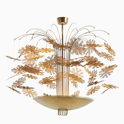 Paavo Tynell, ''Snowflake' chandelier', ca. 1940