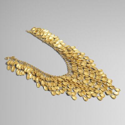 Robert Lee Morris, 'Golden Petal Waterfall necklace', 1989