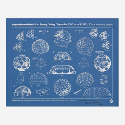 R. Buckminster Fuller, 'Carl Solway Gallery poster and book', 1981