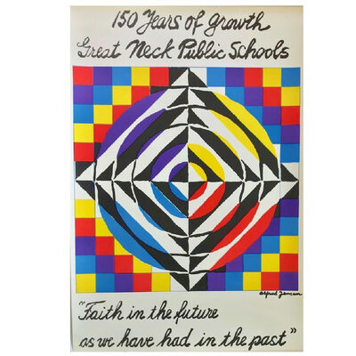 """Alfred Jensen, '""""150 Years of Growth Great Neck Public Schools"""", 1965, Op-Art Design by Alfred Jensen to Commemorate 150 years of Great Neck', 1965"""