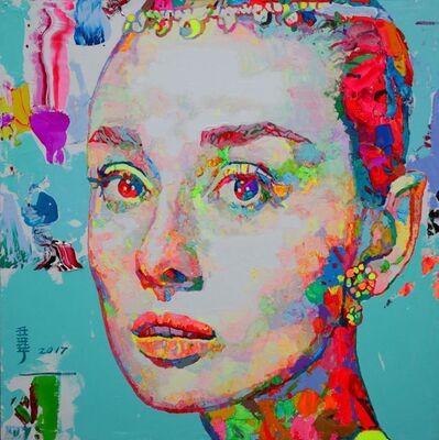Ren Zhenyu, ' Audrey Hepburn- Blue', 2017