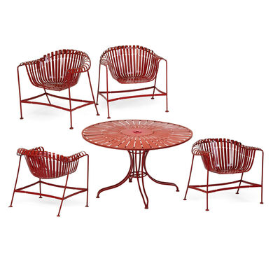 Russell Woodard, 'Dining table and four armchairs', 1960s